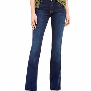 7 for All Mankind Dark Wash Bootcut Jeans Sz 27